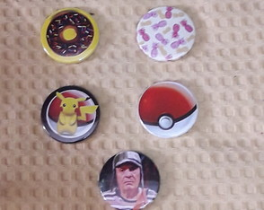 botons criativos chaves pokemon donnut abacaxi
