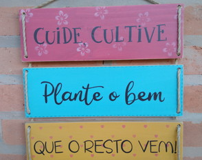 Placa Decorativa Cuide e Cultive