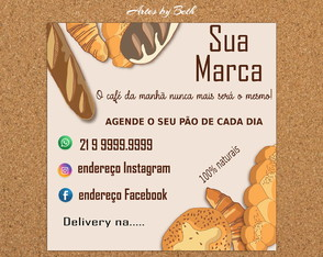 Padaria Feed Instagram/Panfleto Arte Digital