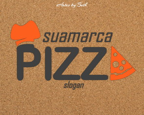 Pizzaria Logo Arte Digital
