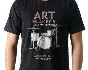 Camiseta Camisa Jazz Baterista Art Blackey Jazz Messengers