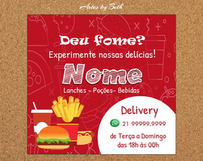 Lanches Feed Instagram/Panfleto Arte Digital