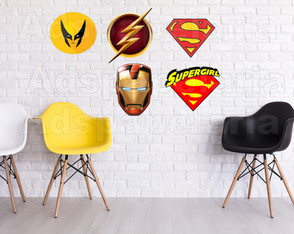 Placas Decorativas - Super Heróis