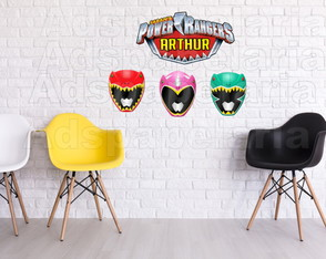 Placas Decorativas - Power Rangers Dino Charge