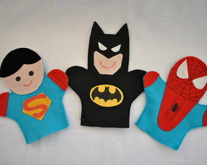 fantoches-super-man-batman-h-aranha
