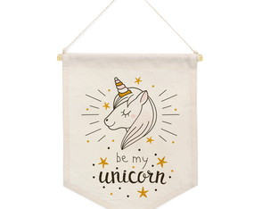 Flâmula Decorativa para Quarto Infantil- Be My Unicorn