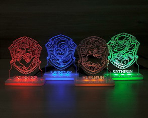 Conjunto de 04 Mini-Luminárias Led Harry Potter