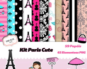 Kit digital Paris Cute