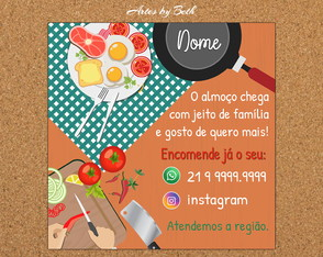 Delivery Comida Feed Instagram/Panfleto Arte Digital