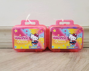 Kit modelar Mini maletinha personalizada hello kitty