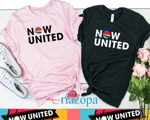 Kit 2 camisetas Now United Preta e Rosa