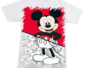 Camiseta Minnei e Mickey
