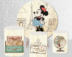 Kit Arte Digital Para Painel Minnie Paris - 920