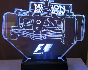 Luminária Abajur Display Led 3d Rgb - Formula 1