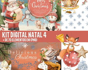 KIT DIGITAL NATAL 4 - AQUARELA