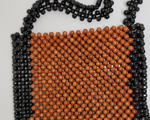 Bolsa de ombro black/orange de miçanga Beads Donna company