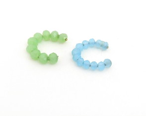 Piercing Fake Mix Cristais Verde e Azul B4225