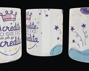 Arte digital caneca - Acredite