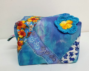 Necessaire Criativa Blue & Yellow Flower