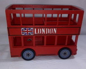 Mini Bus London porta caneta 9x18x14cm 3div