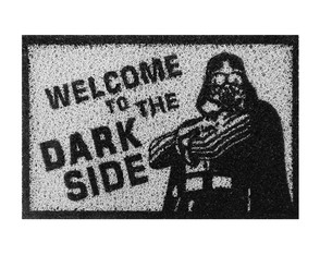 Tapete Capacho Divertido Welcome To The Dark Side - Geek