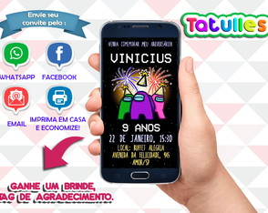 Convite Among Us Digital Para Whatsapp