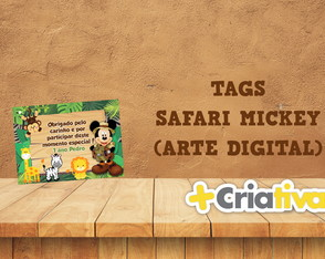 TAG ARTE DIGITAL MICKEY SAFARI