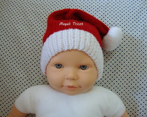 GORRO DO PAPAI NOEL 0 A 6 MESES LÃ