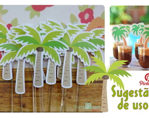Topper Coqueiro Tropical [kit c/20]