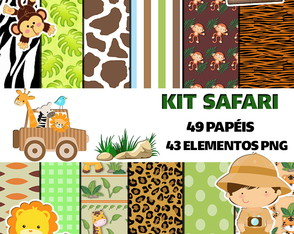 Kit papel digital Safari