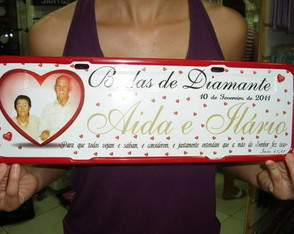 Placa Bodas de diamante