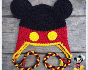 Touca de Crochê Mickey