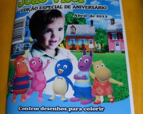 REVISTINHA COLORIR DO BACKYARDIGANS