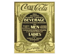 Placa MDF Retrô- Coca Cola 1905 - 36