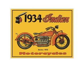 Placa MDF Retrô- Moto Indian - 052