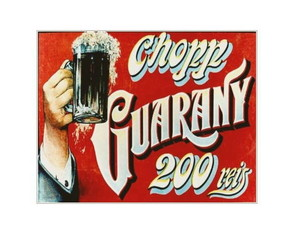 Placa MDF Retrô Chopp Guarany - 40