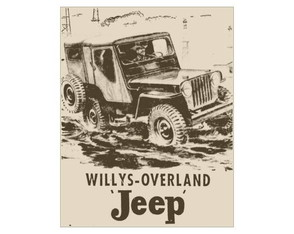 Placa MDF Retrô- Jeep Willys - 48