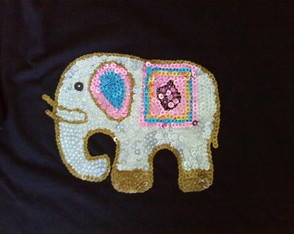camiseta-customizada-elefante-indiano