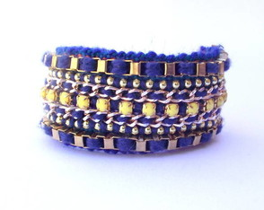 friendship-bracelet-yellow-blue