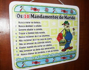 Os dez mandamento do marido