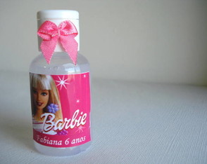 Mini sabonete líquido Barbie