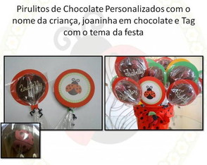 Pirulito de Chocolate Decorado Joaninha