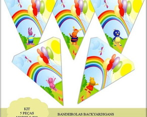 Kit Bandeirolas Backyardigans Mod 290