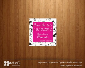 10 Ímãs Save the Date - Modelo 003