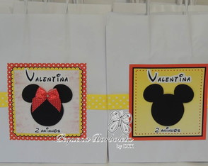 Sacola M papel Minnie Mickey