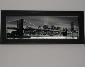 QUADRO PONTE DE MANHATTAN COM LED
