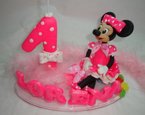 Mini topo minnie letras/candle minnie
