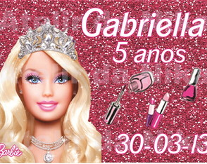 Arte Digital  Barbie Glitter