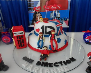 Bolo pasta americana One Direction 1D