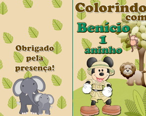 Revista colorir Mickey Safari 14x10